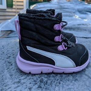 Toddler Girls Puma High Top Velcro Sneakers Size 5